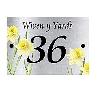 Acrylic Master DAFFODIL DESIGNER HOUSE SIGN PLAQUE | 2 PART SIGN