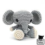 David el Elefante - Amigurumi - Muñeco de peluche - Tejido a ganchillo - Hecho a mano - Crafter Twins