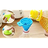 RIANZ Collapsible Silicone Funnel Helpful In Pouring Liquid with Precision (Multicolour, RZ_FNN01)