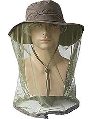 ECYC Outdoor Anti-Mosquito Head Mesh Net Protection du Visage Caps de pêche