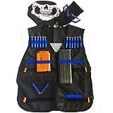 Kit de chaqueta GFU chaleco táctico con 16pcs azul dardos + Gafas de protección + 5-dardo y 11-Dardos recarga rápida máscara de recorte + + cara del tubo pequeño colgante de Nerf pistola de juguete N-Strike Elite Series