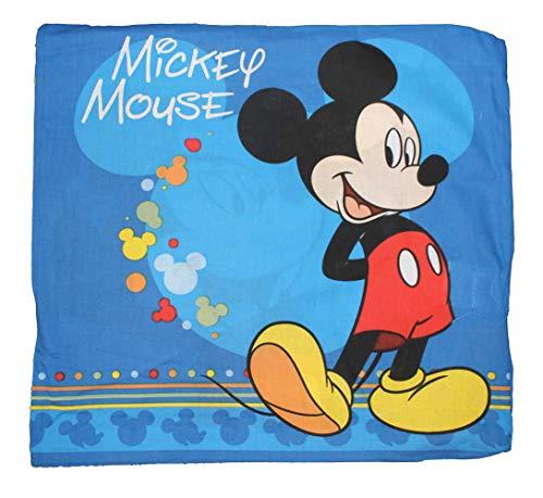 Stoff Kissenbezug (Disney 017 Kissenhülle Mickey Maus Kissenbezug 40x40 cm)