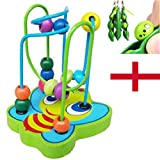 Bluester Toys,Early childhood Hot Children Kids Baby Colorful Wooden Mini Around Beads Educational Game Toy