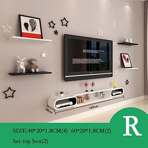 Preisvergleich Produktbild Set Top Box Rack TV Wanddekoration TV-Schrank Wohnzimmer Wand-Trennwände Schlafzimmer-Wandregale Wanddekorationen (Mehrfache Arten vorhanden) ( Farbe : R )