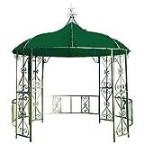 Dachplane für Pavillon BURMA 300cm rund wasserdicht, dunkelgrün