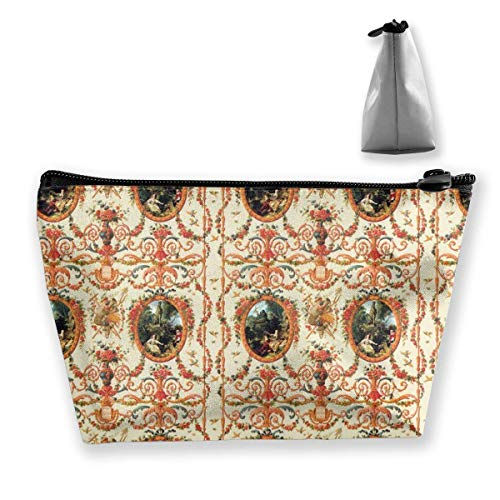 Marie Antoinette Rococo Lovers Seasons Women Cosmetic Bags Portable Pouch Trapezoidal Storage Bag Travel Bag with Zipper Marie Antoinette Make-up
