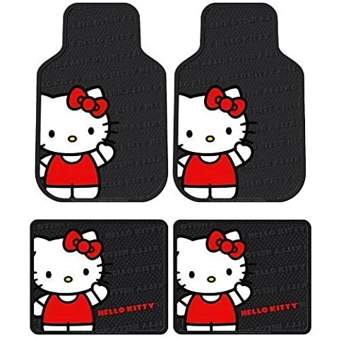 Plasticolor Hello Kitty Sanrio Waving Front & Rear Car Truck SUV Seat Rubber Floor Mats by Plasticolor