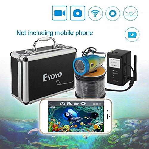 Cutepet Fisch-Finder Fisch Locator 50M WIFI Verbindung Handy Video Phishing-Gerät Hd Unterwasser-Monitor Fisch-Detektor Fischfinder TF-92013