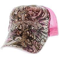 Strass tatuaggio in rete a forma di croce Love in rosa con tanti Strass decorativi (Croce Cap Hat)