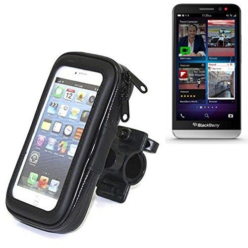 Für Blackberry Z30 Fahrrad Halterung Handy Halterung Lenkstange Fahrrad Halter Motorrad Bike mount Smartphone Halter für Blackberry Z30 Wasserabweisend, regensicher, spritzwasserdicht - K-S-Trade(TM)