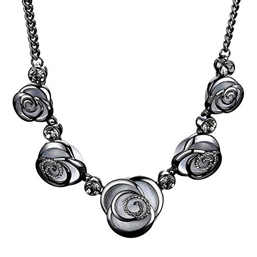 LINLIN Übertreibung Halskette Rose Blume Damenbekleidung Dekoration Schlüsselbein Kette Mode Temperament