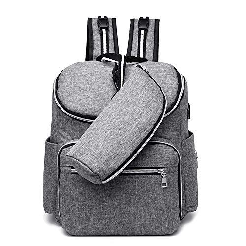Damen Rucksack, Wickeltasche Multifunktions-Reiserucksack Windeltaschen for die Babypflege, große Kapazität, stilvoll und langlebig Für Jugendlich Mädchen ( Farbe : Grau , Größe : 30x22x35cm )
