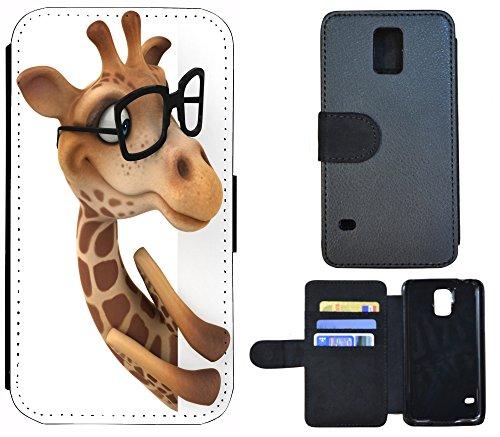 Coque Flip Cover Housse Etui Case Pour, Tissu, 1218 Herz Herzen Lila Silber, Apple iPhone 6 / 6s 1214 Giraffe Animiert Braun Weiß