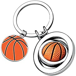 Llavero de baloncesto - art. EL7499 - Lon. 7,6 cm - Anc. 3,5 cm - Alt. 1 cm - Ten by Varotto & Co.
