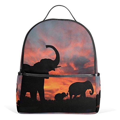 COOSUN Los elefantes disfrutan de espectaculares Sunset School mochilas mochilas para las...
