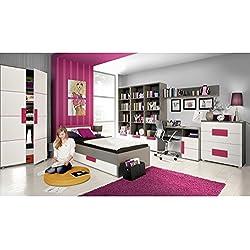 Jugendzimmer Libelle Komplett verschiedene Ausführungen Kinderzimmer Möbel (Jugendzimmer Libelle 9tlg)