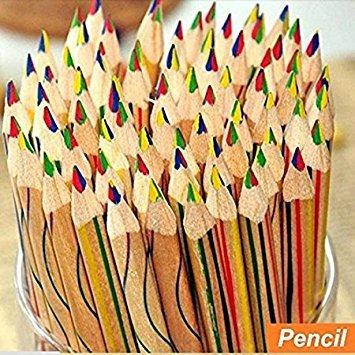 Rainbow Farbe Bleistift 4 in 1 farbigen Zeichnen Malen Stationery Office Bleistifte (Regenbogen Buntstift)
