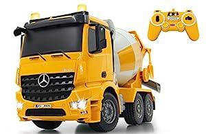 Jamara Mezcladora 1:20 Mercedes Arocs 2,4 GHz Color Negro, Amarillo 404930