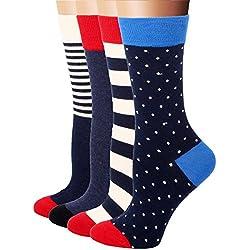 RioRiva Calcetines cortos mujer de caña corta unisex - Calidad de celodoro Disponibles en varios colores y tallas 35-42 (EU 36-42, WSK34- 4 pares)