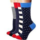 RioRiva 4 Paar Damen Mädchen Socken Freizeit Söckchen Snaker Baumwolle Sport Knöchelsocken