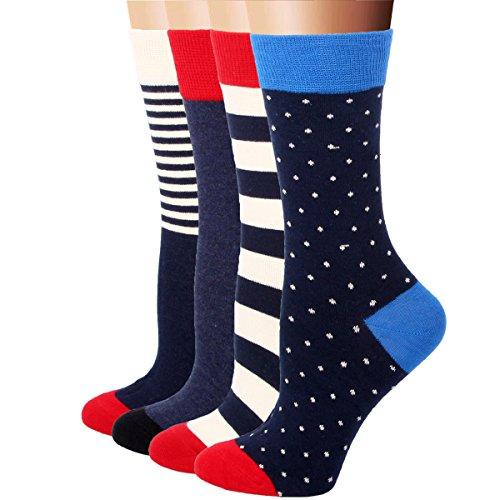 RioRiva 4 Paar Damen Mädchen Socken Freizeit Söckchen Snaker Baumwolle Sport (Batman Spandex Anzug)