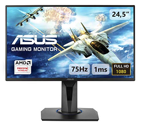 ASUS VG255H 25'' (24.5'') FHD (1920 x 1080) Gaming Monitor, 1 ms, 75 Hz, HDMI, D-Sub, Super Narrow Bezel, FreeSync, Filtro Luce Blu, Flicker Free