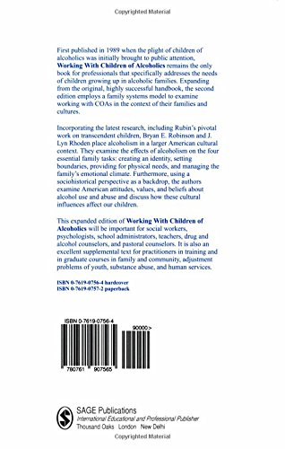 Working with Children of Alcoholics: The Practitioner's Handbook (Science; 976)