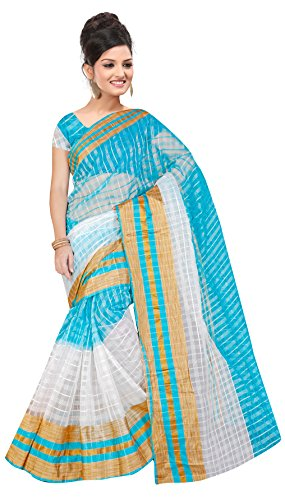 Indian Fashionista women's Chanderi Cotton Saree with unstiched Blouse Piece