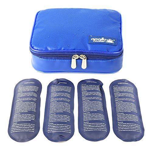[ Neue Version] wasserdicht Insulin Kühltasche ONEGenug Diabetiker Tasche Medikamenten Thermotasche für Diabetes Spritzen,Insulininjektion und Medikamente (Size L + 4 Kühlakkus)