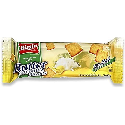 Bissin Butter Coconut Biscuits Bite Size (36g X X 1display Box) by Bissin Original Since 1979