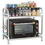Aufbewahrung Kleine Mikrowelle Stand Countertop Ecke Edelstahl Mini Kühlschrank Rack 2 Tier Küche Lagerregal