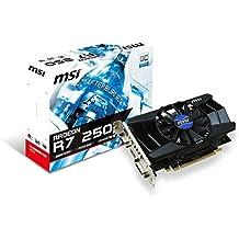 MSI V301-015R NVIDIA Radeon R7 250 2GB - Tarjeta gráfica (Activo, NVIDIA, Radeon R7 250, DDR3-SDRAM, PCI Express 3.0, 4096 x 2160 Pixeles)