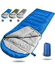 Angker - Saco de Dormir para Acampada, portátil, Ligero, Rectangular, Mochila,