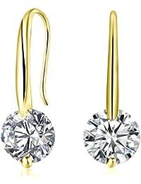 Swarovski Sterling Silver High Quality CZ Elegant Earrings For Women & Girls By DC Jewels