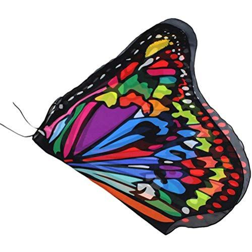 Schmetterling kostüm, Faschingskostüme Schmetterling Kinder Kostüm Pixie Halloween Cosplay Schmetterlingsf Butterfly Wings Flügel für 3-12 Jahre Kinder (7 11 Mitarbeiter Kostüm)