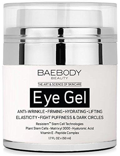 Baebody Eye Gel for Dark Circles, Puffiness, Wrinkles and Bags - The Most Effective Anti-Aging Eye Gel for Under and Around Eyes. - 1.7 fl. oz. (Eye Dark Bag)