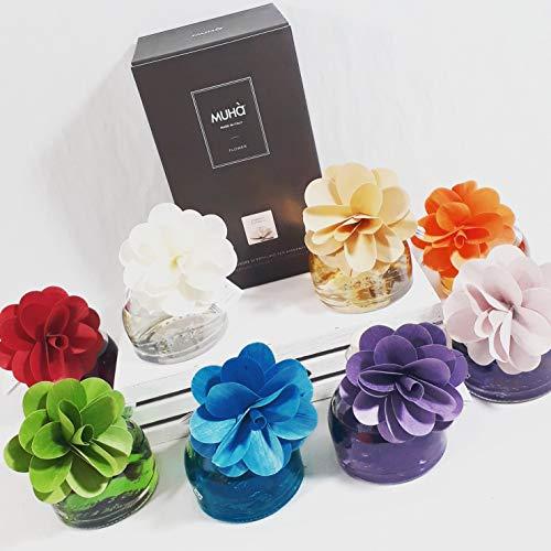 Sindy bomboniere muhà diffusore per ambienti fragranza a scelta ampolla da 200ml (naturale: vaniglia e ambra)