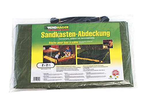 Windhager Abdeckplane Sandkasten, 2 x 2 m, 180g/m²