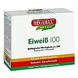 Megamax Eiweiss Schoko. Molkenprotein + Milcheiweiß Eiweiß Protein mit Biologischer Wertigkeit ca. 100. Für Muskelaufbau und Diaet. Inhalt: 7 x 30 g