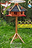 MASSIVHOLZ PREMIUM Vogelhaus anthrazit mit Fuß, sehr groß ca. 75 cm - breit