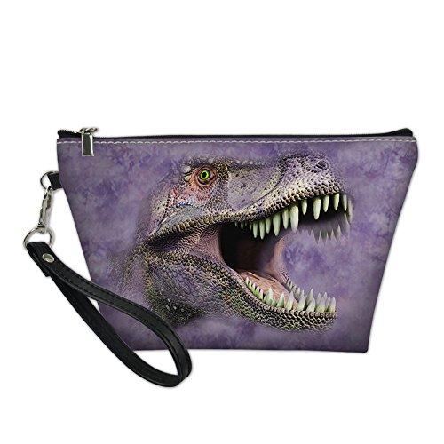 Nopersonality Handy Cosmétique Pochette Maquillage Sac personnalisé Motif animaux violet dinosaure