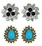 Suvini Ear Studs - collection of 2 desig...
