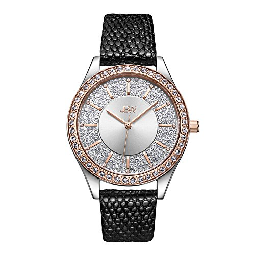 JBW Women's 10-Year Anniversary Mondrian J6367-10C 0.12 Carat Diamond Wrist Watch with Leather Bracelet