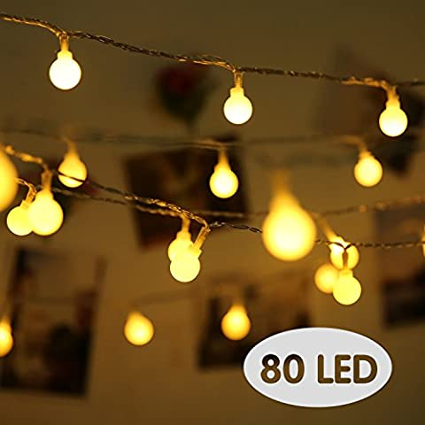 Lovebay Fairy Lights 10M Battery Operated 2 Modes 80 Led