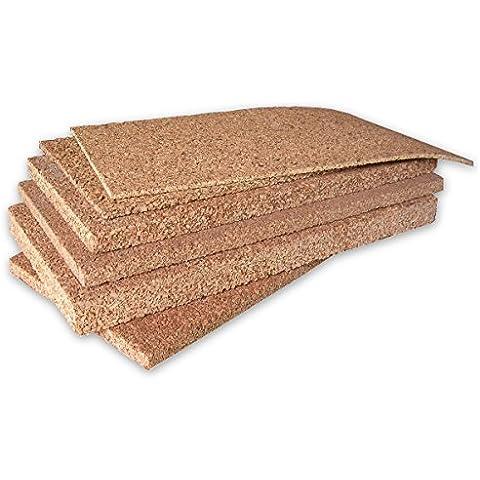 ARTIMESTIERI - Sughero In Pannelli da 1 a 10 cm di spessore - isolamento termico,acustico per tetti cappotti e pavimenti - 8cm - conf. 2mq - Fogli Tetto