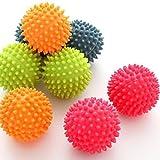 tia-ve 2pcs riutilizzabile atossici palline Laundry Dryer Balls tessuto Cura lavaggio palline, colori assortiti