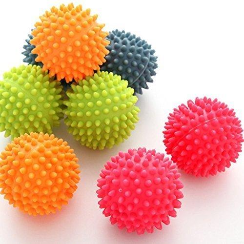 Tia-ve 2pcs réutilisable non toxique à linge Balles Balles à sèche-linge Tissu Care Balles de lavage, couleur aléatoire