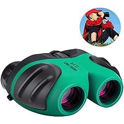 Prismáticos Juguete, DMbaby 8X21 Compactos Binoculares para Niños - Regalos para Niñas Verde DL01