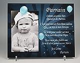 Cadre Photo Aimant pour Parrain - (Cadeau Parrain Marraine Baptême & Communion)