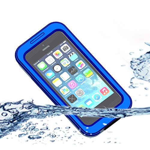 Obamono iPhone 5 5S 5C 4 4S Waterproof case, Waterproof Case Cover for iPhone 5 5S 5C 4 4S Snowproof Shockproof DirtProof Protection Premium Cover Case (Für Carry Iphone 4s Case)